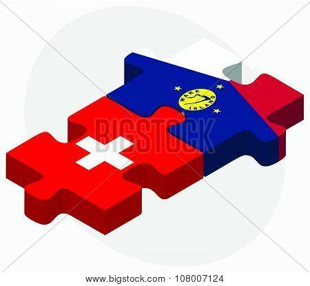 Switzerland And Wake Island Flags