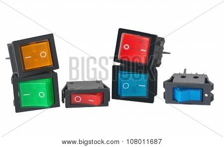 Switch On White Background