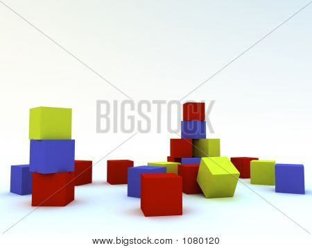Varicoloured Child'S Blocks