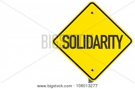Solidarity sign isolated on white background