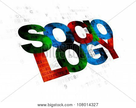 Studying concept: Sociology on Digital background