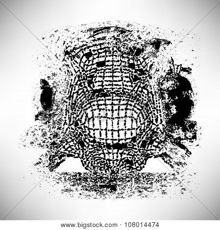 Abstract Shape Background Texture Of Ink Strokes