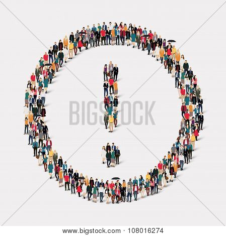 group people  shape  exclamation mark