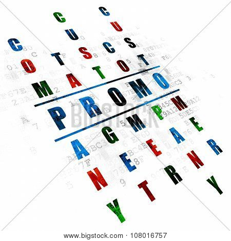 Marketing concept: Promo in Crossword Puzzle