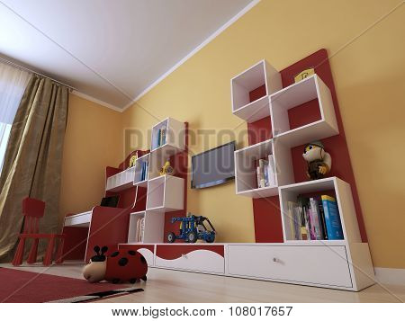 Childrens Room In A Modern Style