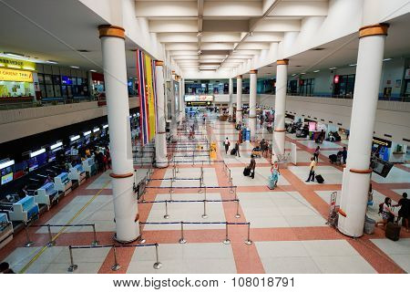 PHUKET, THAILAND, - NOVEMBER 06, 2015: interior of Phuket International Airport. The airport plays a major role in Thailand's tourism industry, as Phuket Island is a popular resort destination.
