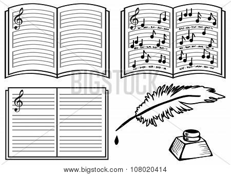 Music Book line