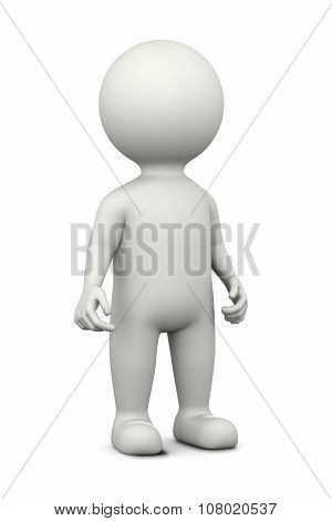 White 3D Character