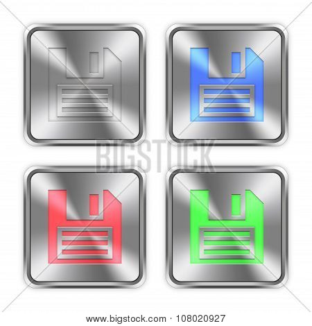 Color Save Steel Buttons