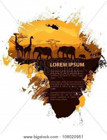 Africa Grungy Design Template
