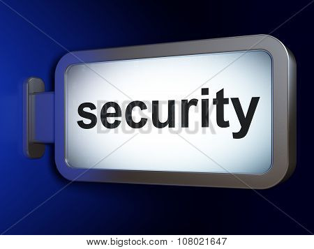 Security concept: Security on billboard background