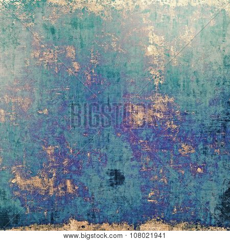 Vintage antique textured background. With different color patterns: yellow (beige); blue; green; purple (violet)