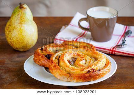 Snail Pastry Or Pain Au Raisin