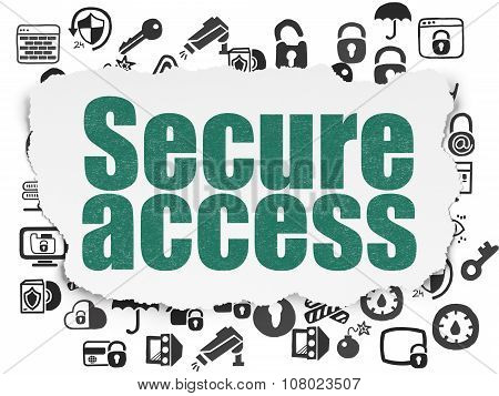 Security concept: Secure Access on Torn Paper background