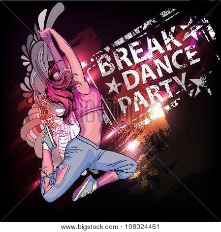 Break Dance Party Poster