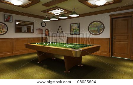 Billiard Room Classical Style