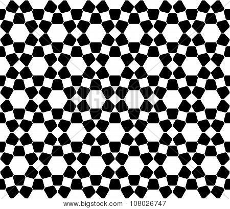 Vector modern seamless sacred geometry pattern islam black and white abstract