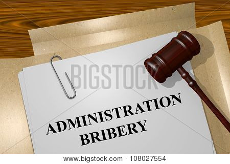 Administration Bribery Concept