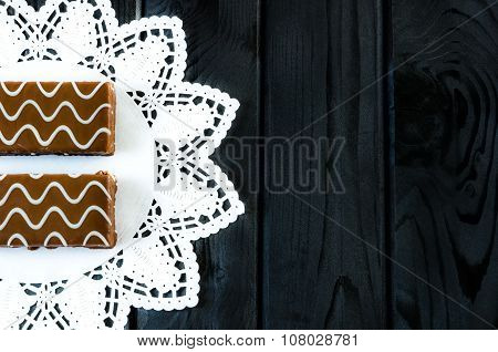 Chocolate-coated biscuits