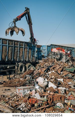 Scrap metal ready for recycling