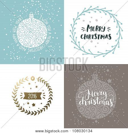Vector Christmas and New year cards
