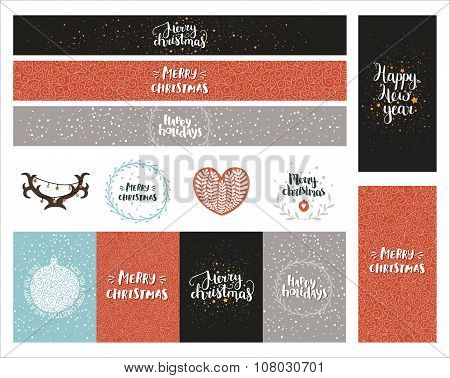 Vector Christmas and New year collection