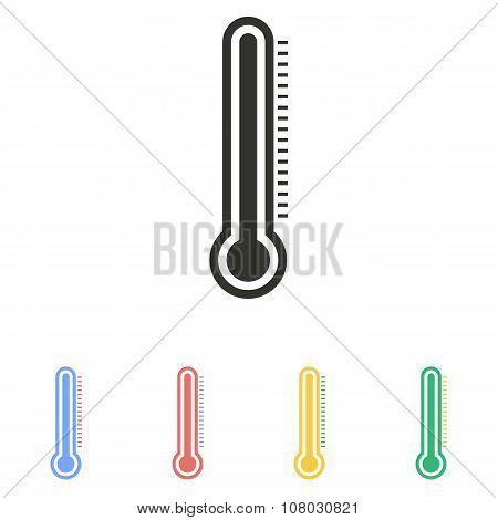 Mercury Thermometer  Icon.