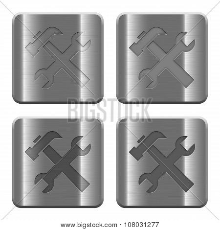 Metal Tools Buttons
