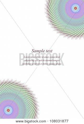 Multicolor page corner design template