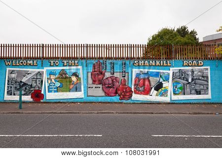 Welcome To Shankill Road Mural, Belfast