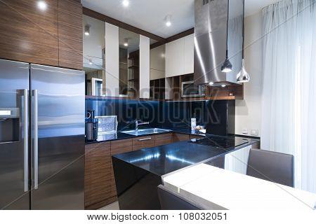 Interior Of A Modern Small Kitchen