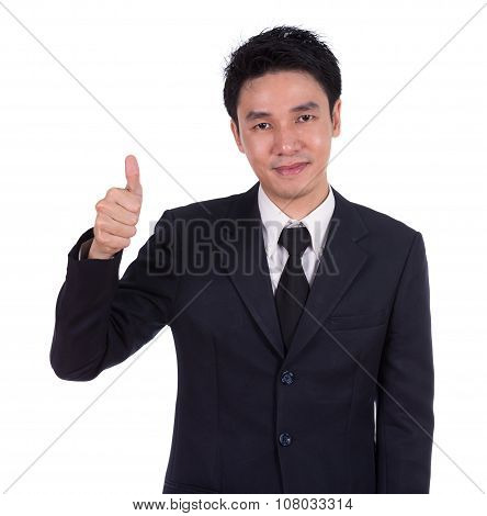 Business Man Showing Thumbs Up Gesture