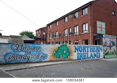 Welcome To Sandy Row Mural, Belfast, Northern Ireland
