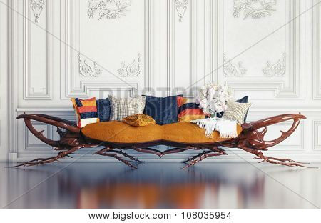 Rhino - beetle sofa concept.3d design idea