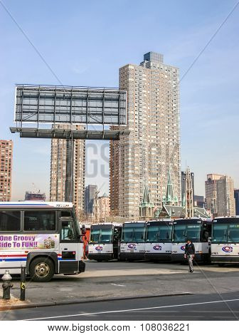 Bus Garage In New York City