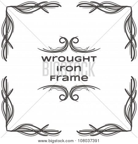 Wrought Iron Frame One