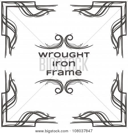 Wrought Iron Frame Ten