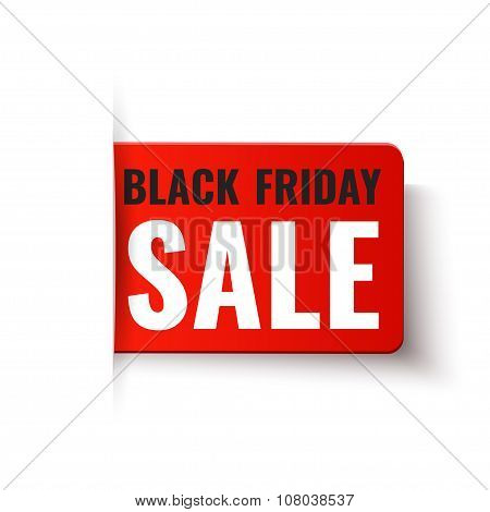 Black Friday Sale - Vector Red Tag