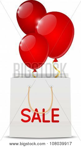 Sale concept with shopping bag