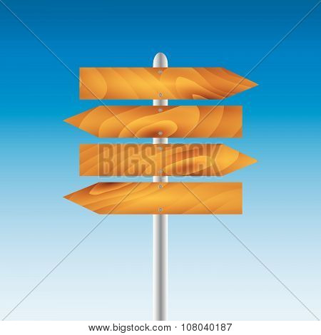 Direction Pointer With Text Vector Illustration