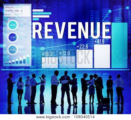 Revenue Accounting Currency Economic Concept