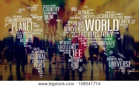 World Globalization International Life Planet Concept