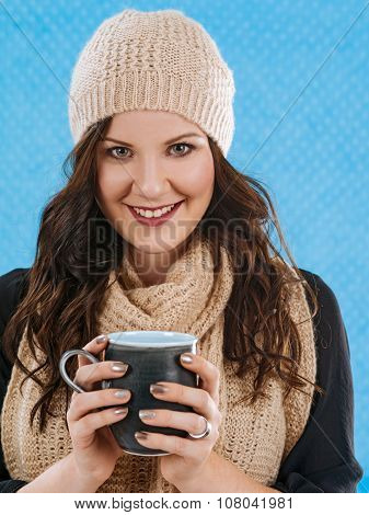 Drinking Coffee On A Cold Day