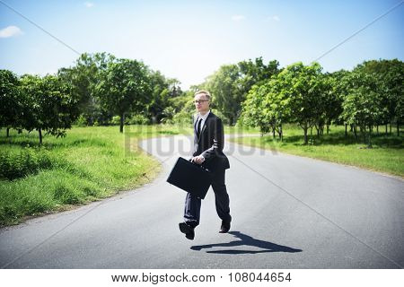 Businessman Relaxation Refreshing Success Business Concept