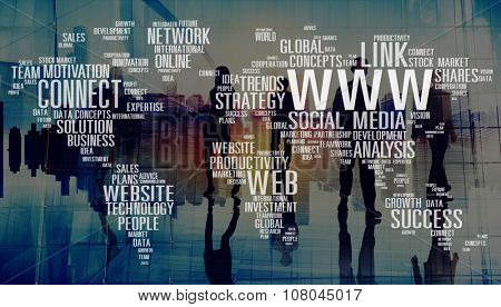 Www Social Media Internet Global Communications Concept