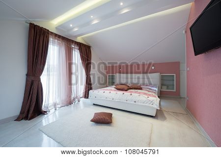 Interior Of A Specious Bedroom