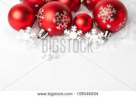 Christmas border with ornament