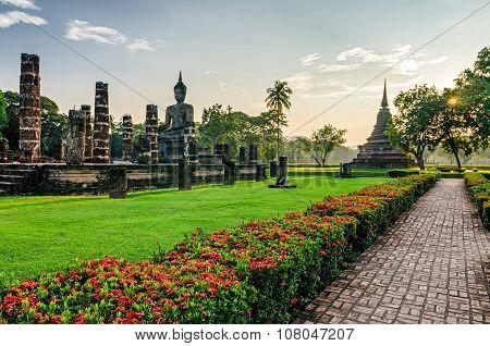 Sukhothai Old Ruins (thailand) In Historical Park