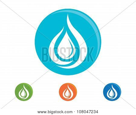 water droplet Logo