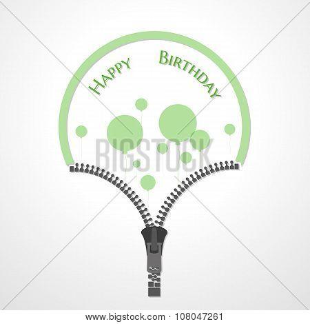 Open Zipper And Balloons